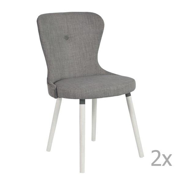 Set 2 scaune RGE Betty, gri
