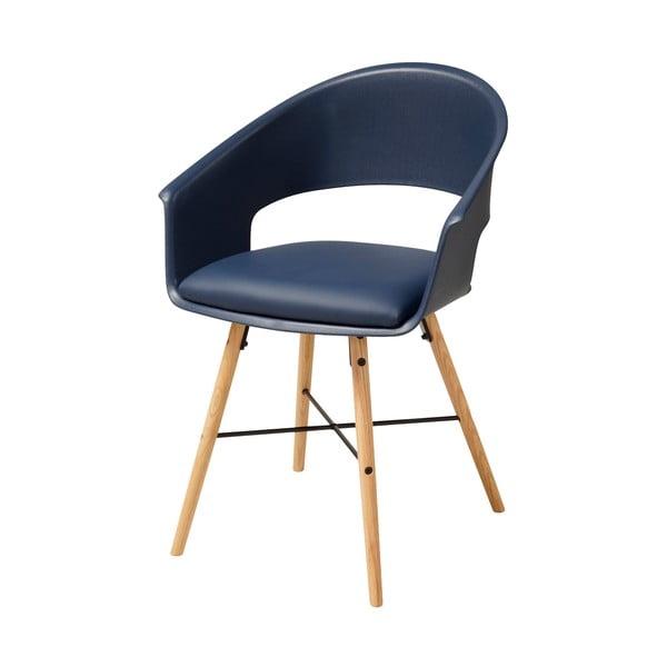 Modrá jedálenská stolička s podnožím z bukového dreva Actona Ivar