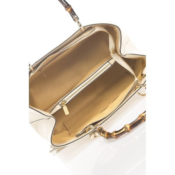 Kožená kabelka Tamsin, béžová