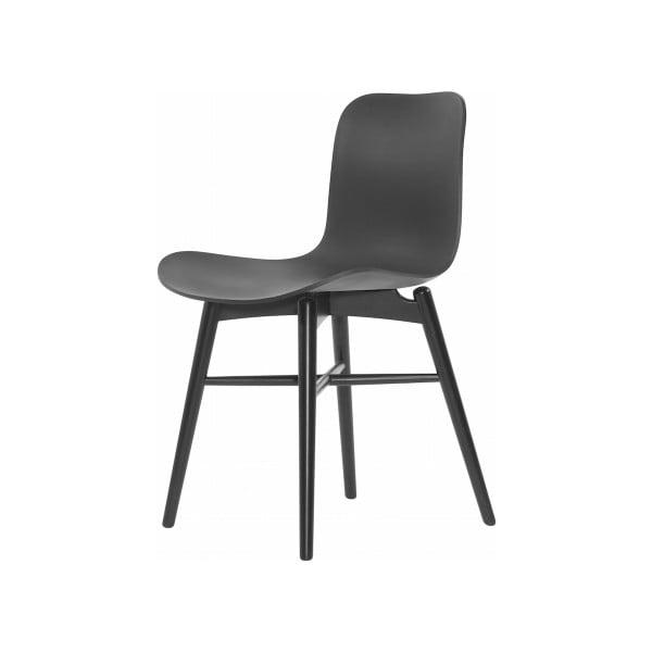 Černá jídelní židle z masivního bukového dřeva NORR11 Langue Stained