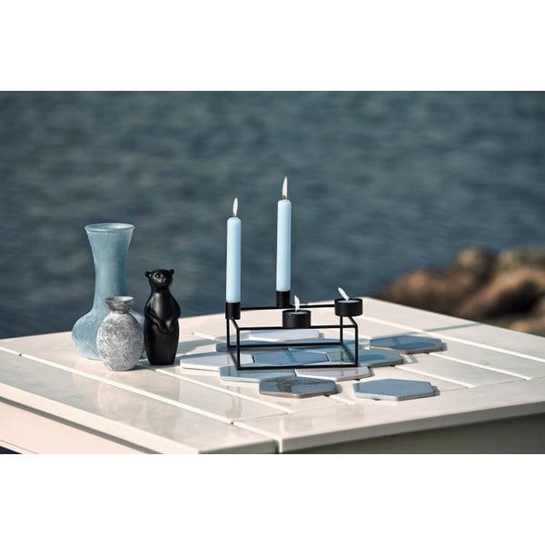 Bílý stojánek na 4 čajové svíčky KJ Collection Melo,délka18 cm