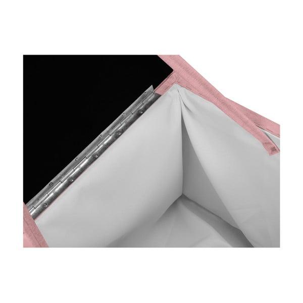 Růžová taburetka s úložným prostorem KICOTI Cube