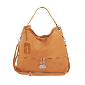 Hořčicově hnědá kožená kabelka Maison Bag Evelyne