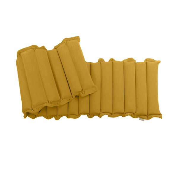 Ciemnożółty relaksacyjny materac Linda Vrňáková Waves, 60x200 cm