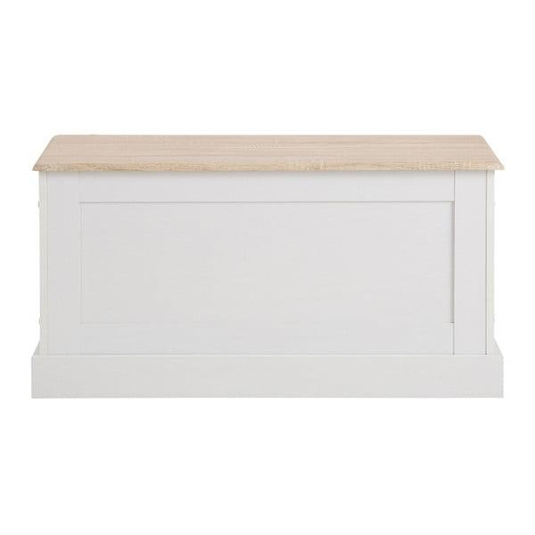 Bílá úložná truhla s detaily v dubovém dekoru Støraa Bruce