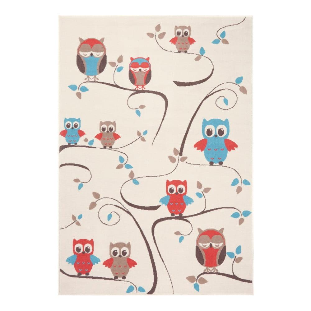 Dětský červenohnědý koberec Zala Living Owl, 140 x 200 cm