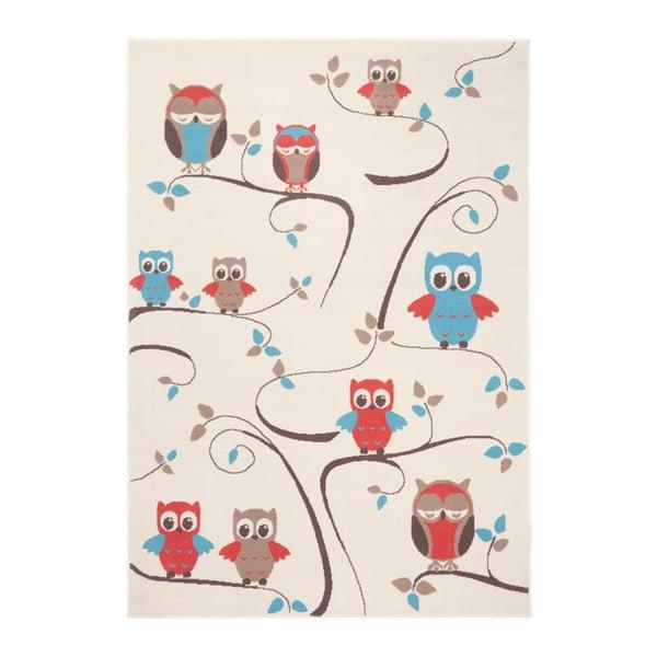 Owl piros-kék gyerekszőnyeg, 140 x 200 cm - Zala Living