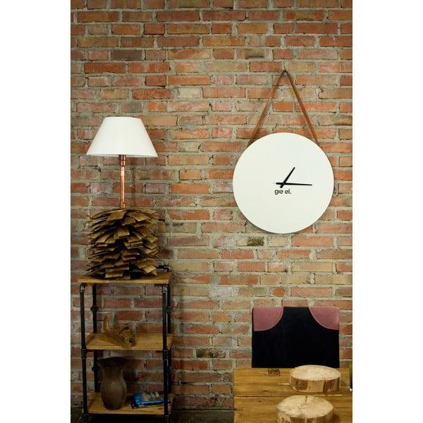 Nástěnné hodiny Clock 60 cm, bílé