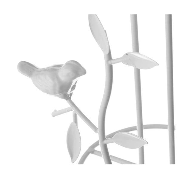 Bílý stojan na kuchyňské papírové utěrky Unimasa Nature, výška 32 cm