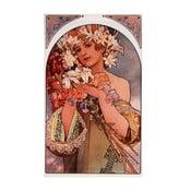 Obraz Flower od Alfonse Muchy, 30x50 cm