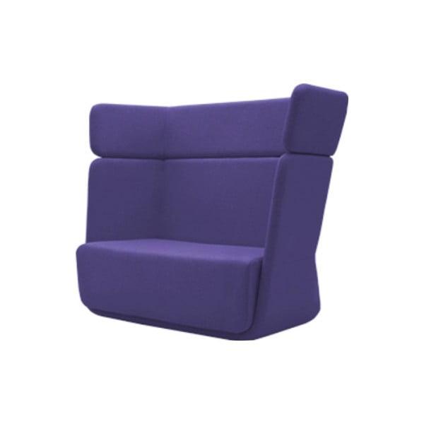 Niebiesko-fioletowy fotel Softline Basket Vision Lilac