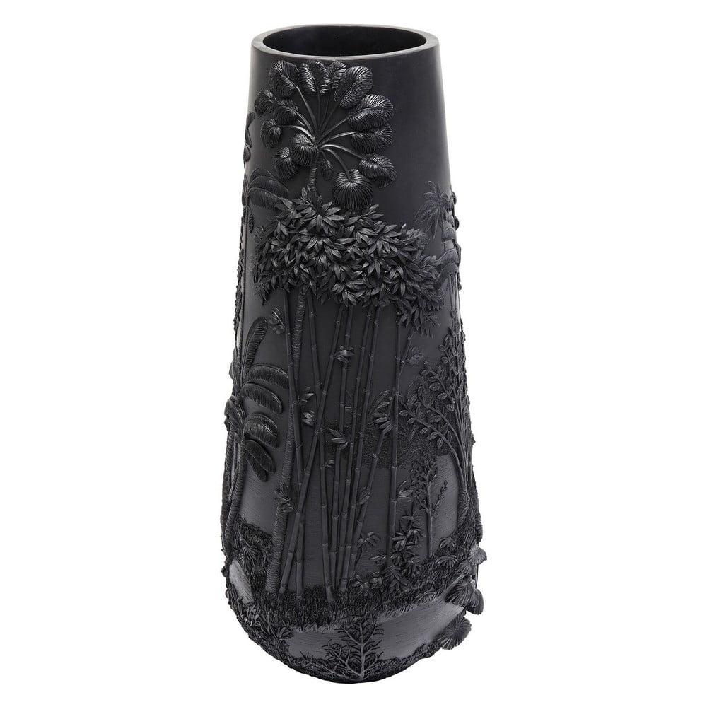 Černá váza Kare Design Jungle, výška 83 cm
