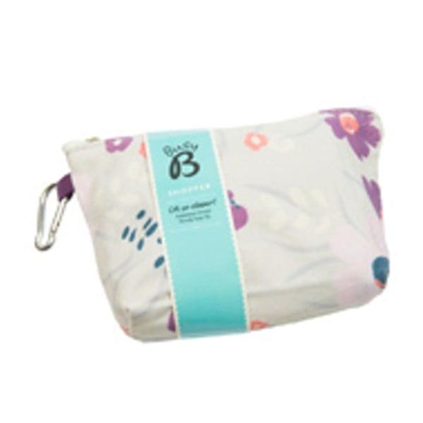 Světle fialová nákupní taška Busy B Floral Shopper