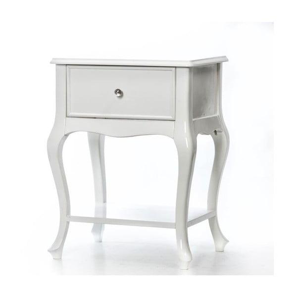 Odkládací stolek Purl White, 44x33x60 cm