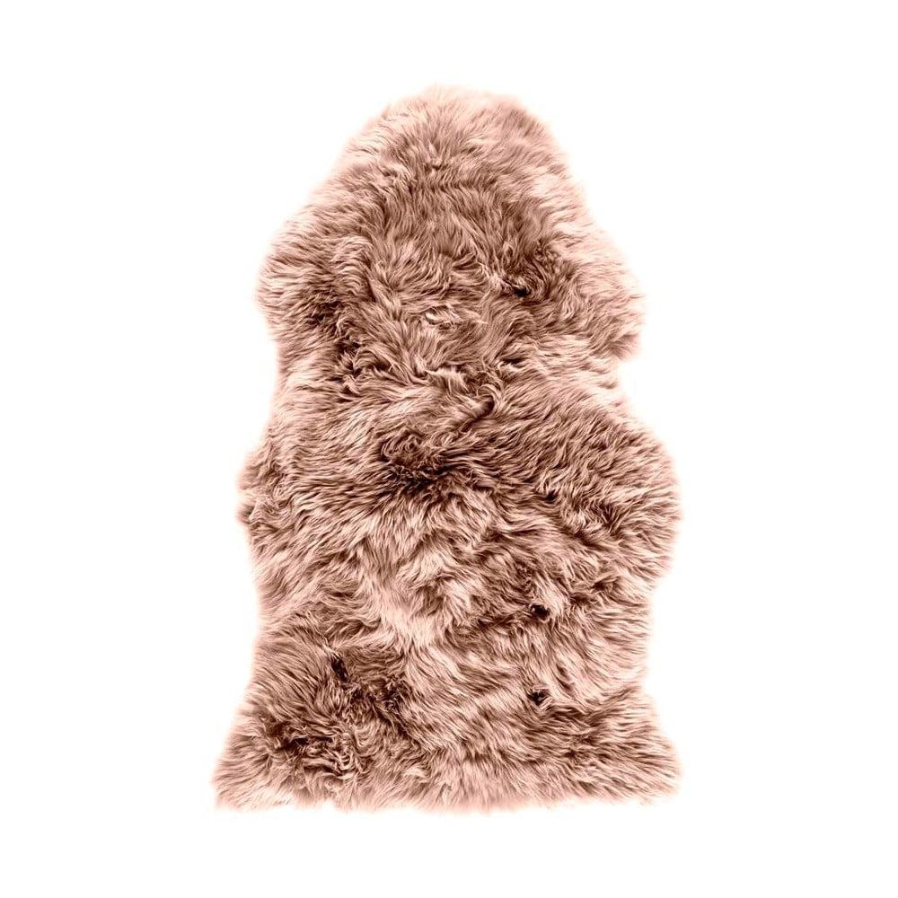 Hnědorůžová ovčí kožešina Royal Dream Sheep, 120 x 60 cm
