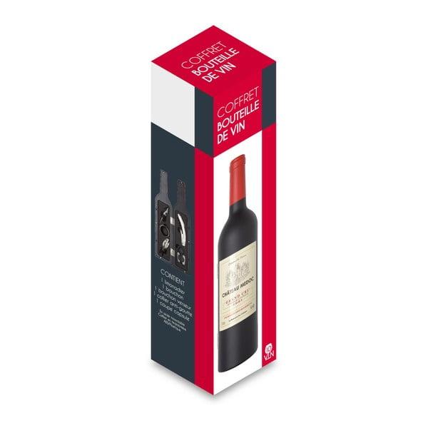 Set na víno v obalu ve tvaru lahve LeStudio Bouteille GM