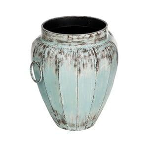 Vază din metal Ixia Aged, albastru deschis