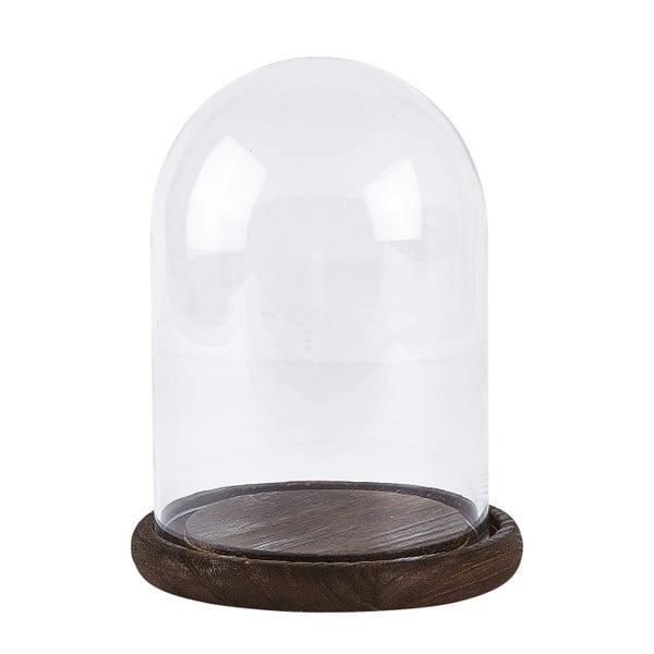 Skleněná dóza KJ Collection Wood Glass, 23 cm