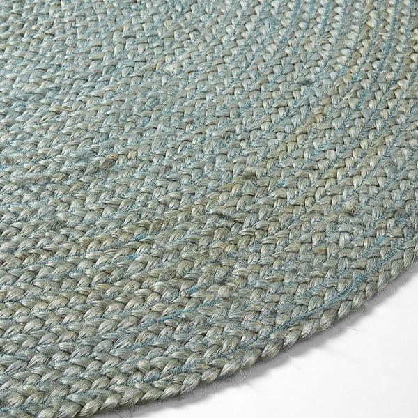 Modrý jutový koberec Dip, Ø100 cm