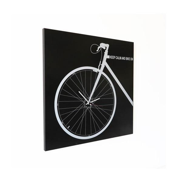 Nástěnné hodiny dESIGNoBJECT.it Bike Black,50x50cm