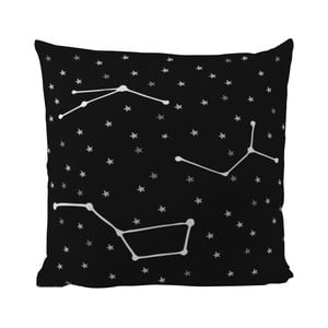 Polštář Black Shake Star Constellations, 50 x 50 cm