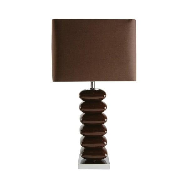 Stolní lampa Ceramica, hnědá