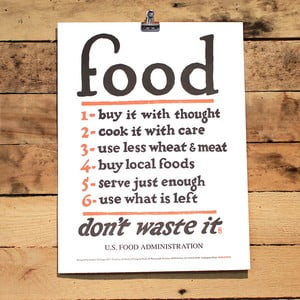 Plakát Food Rules 41x30 cm