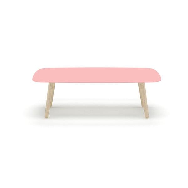 Růžový konferenční stolek MEME Design Nord Rettangolare