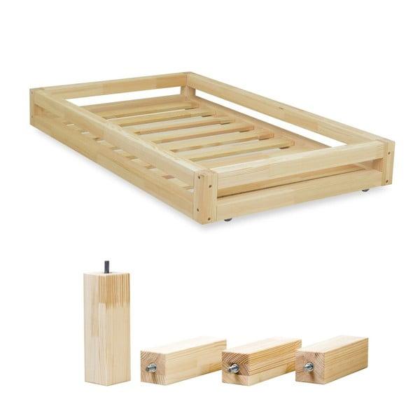 Set přírodní zásuvky pod postel a 4 prodloužených nohou Benlemi,propostel90x200cm