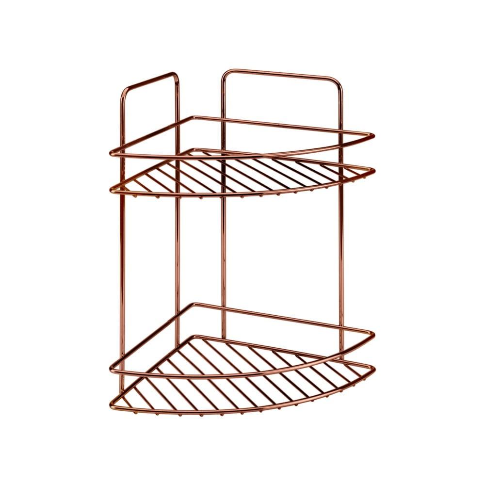 Koupelnová rohová polička s dvěma patry Metaltex Copper