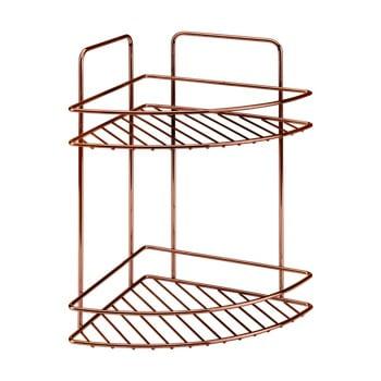 Etajeră pe colț cu 2 rafturi pentru baie Metaltex Copper de la Metaltex