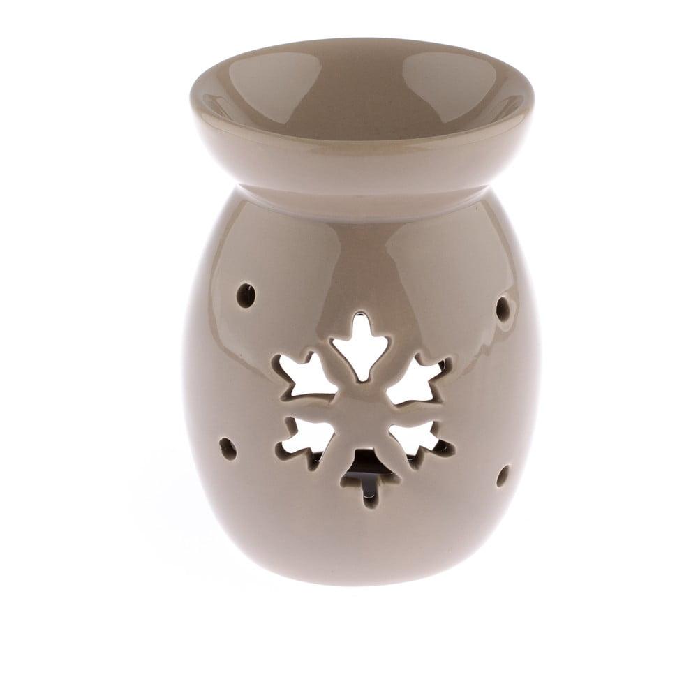 Světle hnědá keramická aromalampa s vločkou Dakls