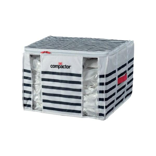 Úložný box na oblečenie Compactor Medium Mariniere 3D Vacuum Bag, 125 l