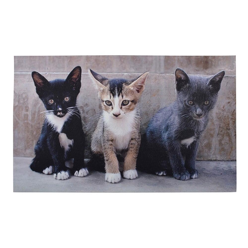 Podložka pod rohožku Esschert Design Kitties, 45,5 x 76 cm