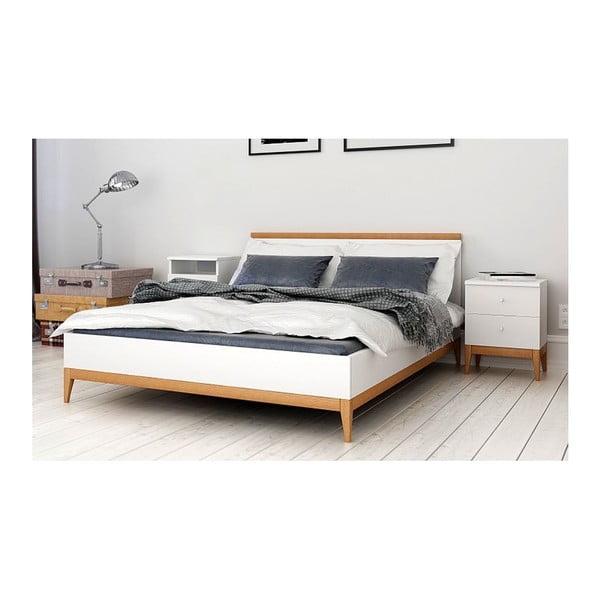 Dvoulůžková postel z masivního borovicového dřeva SKANDICA Livia, 140 x 200 cm