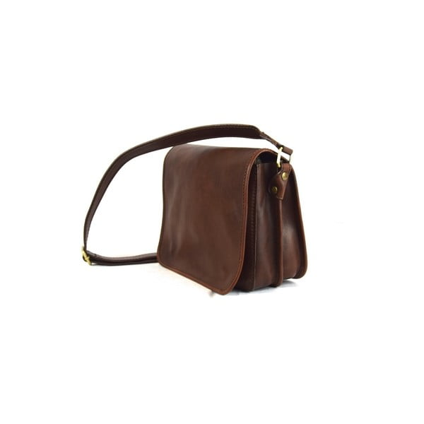 Kožená taška Santo Croce 8802 Dark Brown