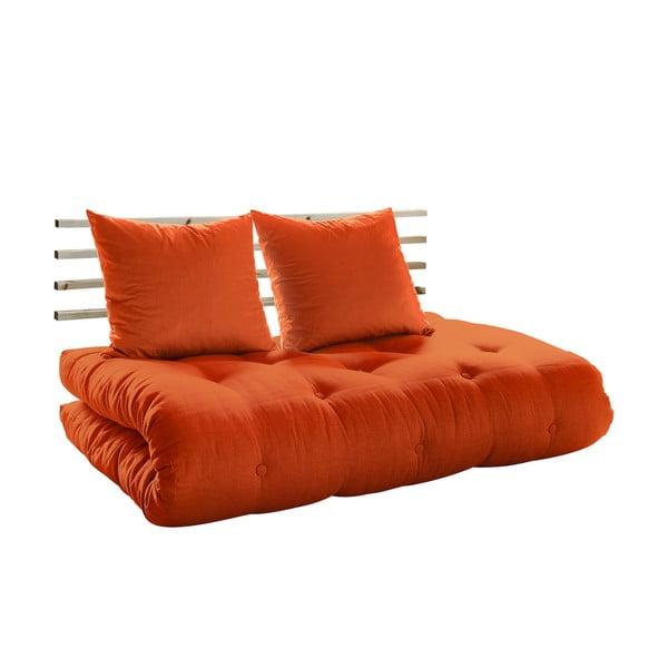 Canapea extensibilă Karup Shin Sano Natur/Orange