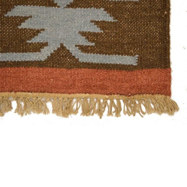 Ručně tkaný koberec Brown Indians, 120x180 cm
