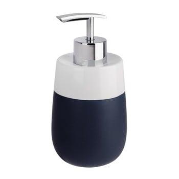 Dozator din ceramică pentru săpun lichid Wenko Matta, albastru – alb de la Wenko