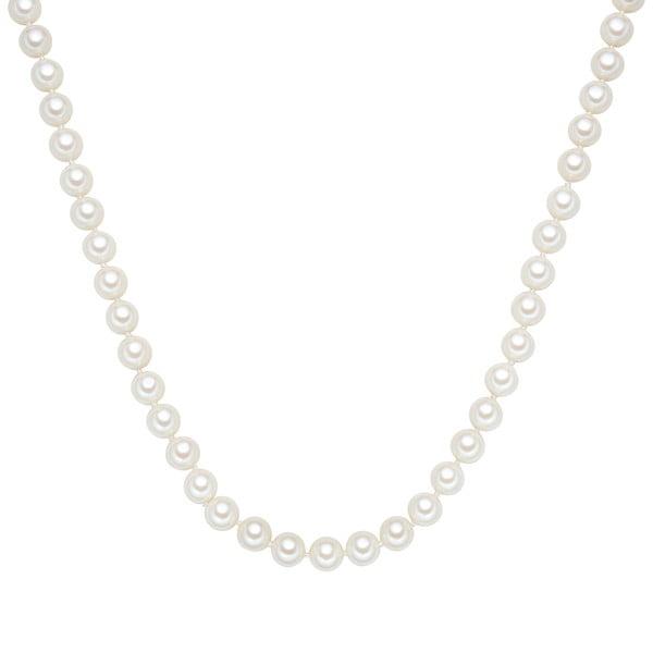 Perlový náhrdelník Muschel, bílé perly 8 mm, délka 60 cm