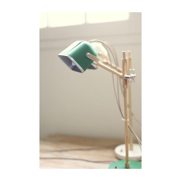Stolní lampa SwabDesign Mob Wood, zelená