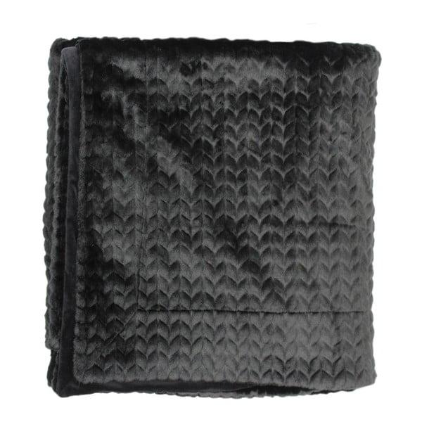 Černý pléd Essenza Faya, 150x200cm