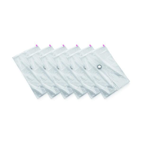 Zestaw 6 worków próżniowych na ubrania Compactor Medium Vacuum Bags, 55x90 cm