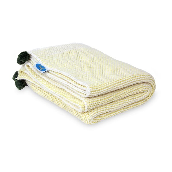 Dětská deka Baby Yellow, 90x90 cm