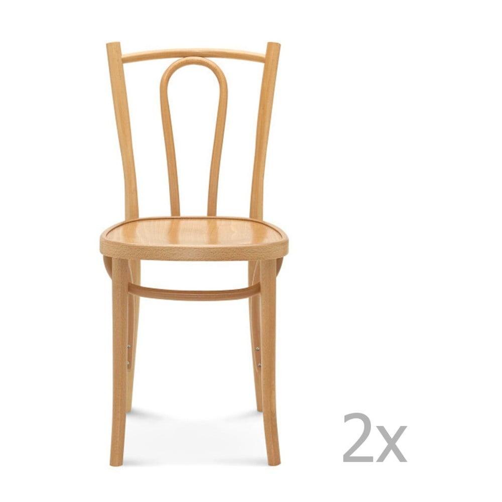 Sada 2 dřevěných židlí Fameg Lauritz
