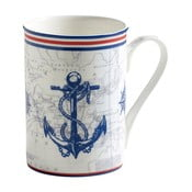 Hrnek z kostního porcelánu Maxwell&Williams Nautical Anchor, 400ml