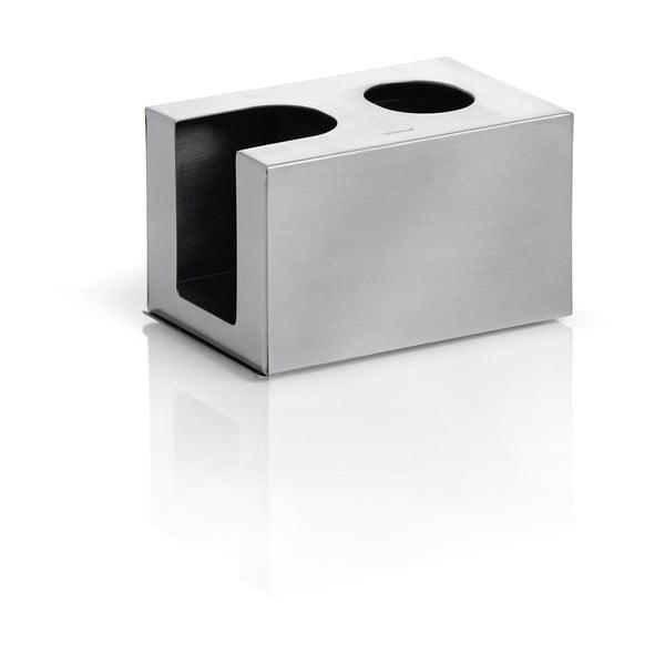 Matný nerezový box na vatové tyčinky a tampony Blomus