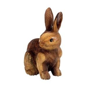 Dekorace z teakového dřeva Massive Home Rabbit, výška30cm