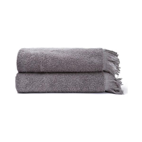 Sada 2 sivých uterákov zo 100% bavlny Bonami, 50 × 90 cm