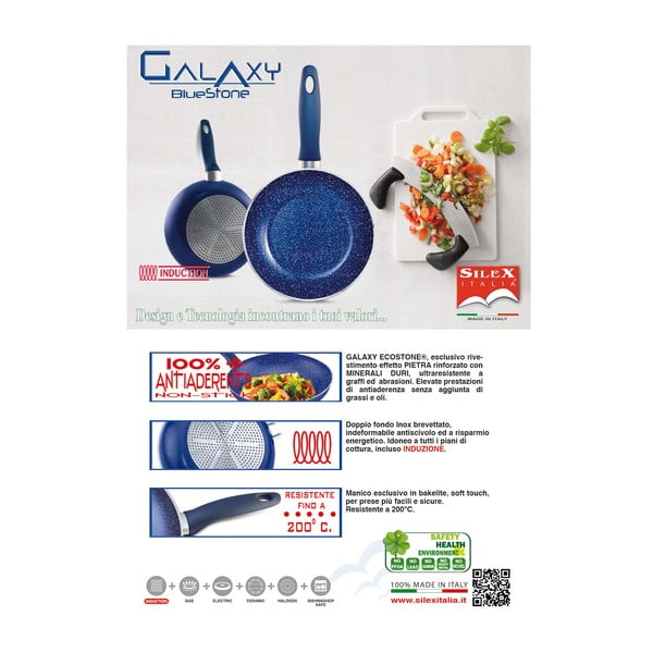 Pánev Silex Italia Galaxy Steak Griller, 28x28cm